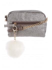 Older Girls Pom Pom Glitter Bag