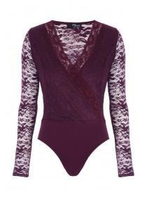 Jane Norman Purple Lace Bodysuit