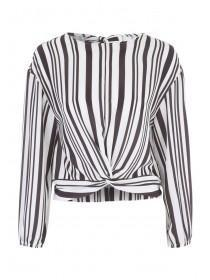 Jane Norman Stripe Knot Front Blouse