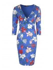 Jane Norman Floral Tie Front Bodycon Dress
