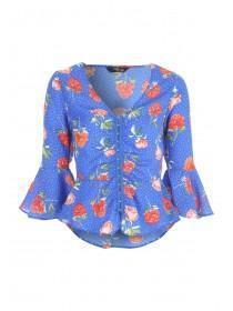 Jane Norman Floral Flare Sleeve Top
