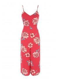 Jane Norman Pink Floral Culotte Jumpsuit