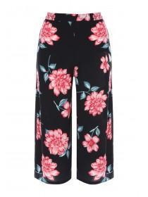 Jane Norman Black Floral Culottes
