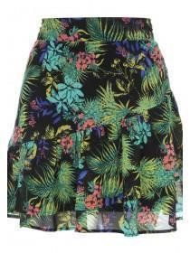Jane Norman Tropical Print Frilly Skirt