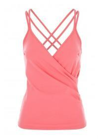 Jane Norman Coral Wrap Cami Top
