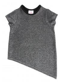 Younger Girls Asymetric Sparkle T-Shirt