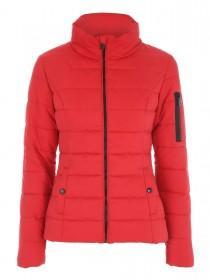 Jane Norman Red Padded Zip Up Coat