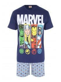 Mens Marvel Avengers Top & Short Pyjama Set
