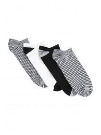 Womens 4PK Microfiber Trainer Socks