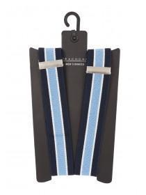 Mens Blue Stripe Braces