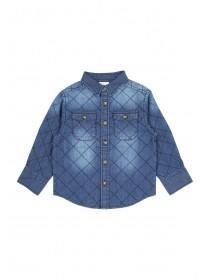 Younger Boys Quilted Denim Shirt