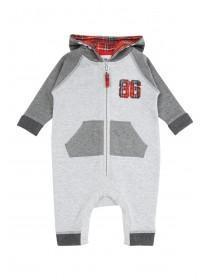 Baby Boys Tartan Hooded Onesie
