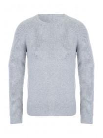 Mens Grey Knitted Jumper