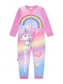 Girls Pink Unicorn Onesie