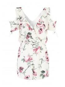 Jane Norman Floral Print Ruffle Playsuit