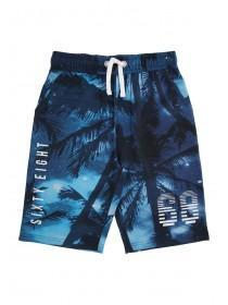 Older Boys Blue Sublimation Shorts