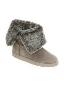 Womens Faux Fur Fold Over Boots