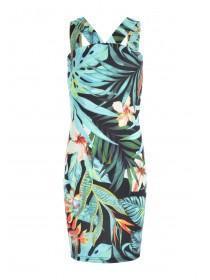 Older Girls Palm Tree Printed Cross Front Sophie Dress
