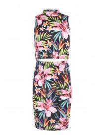 Older Girls Tropical Sophie Crop Top & Skirt Set