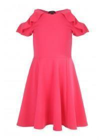 Older Girls Pink Frilled Cold Shoulder Sophie Dress