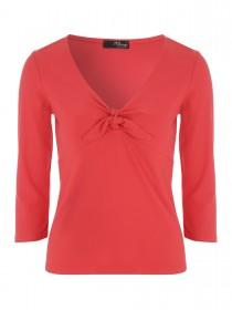 Jane Norman Red Tie Front Top