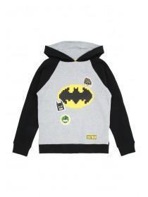 Younger Boys Grey Lego Batman Hoody