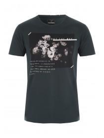 Mens Dark Green Graphic T-Shirt