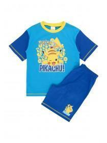 Younger Boys Blue Pikachu License Pyjamas Set