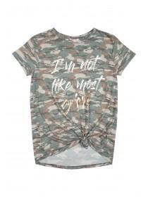 Older Girls Camo Print Tshirt