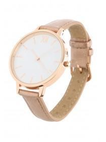 Womens Gold Minimal Dial Watch