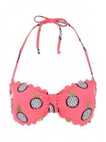 Jane Norman Pink Pineapple Print Bandeau Bikini Top