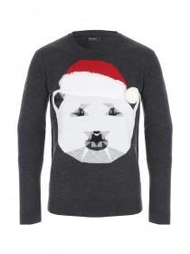 Mens Polygon Polar Bear Jumper