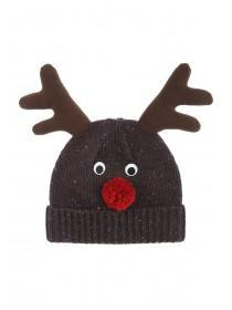 Mens Xmas Reindeer Beanie Hat