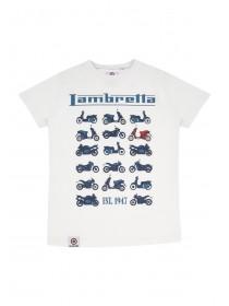 Older Boys White Lambretta Tshirt