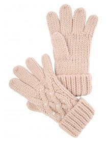 Older Girls Pink Pearl Gloves
