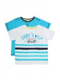 Younger Boys 2PK Surfs Up Slub T-Shirts