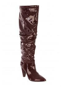 Womens Patent Slouch Boots