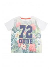 Younger Boys Cream Tropical 72 T-Shirt