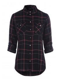 Womens Black Check Shirt