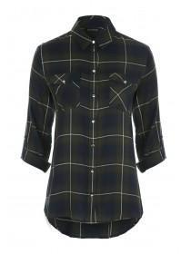 Womens Dark Green Check Shirt