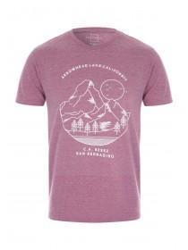 Mens Pink Graphic T-Shirt