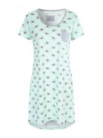 Womens Aqua Daisy Nightdress