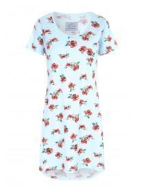 Womens Blue Floral Nightdress