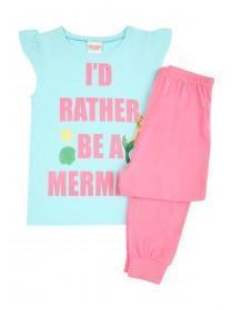 Older Girls Blue and Pink Mermaid Pyjamas