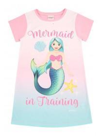 Older Girls Pink Mermaid Emoji Nightdress