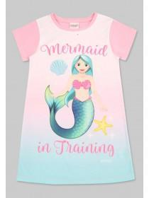 Older Girls Pink Mermaid Emoji Nightdress