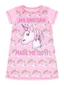 Older Girls Pink Unicorn Nightdress