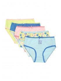 Younger Girls 5pk Blue Pattern Briefs