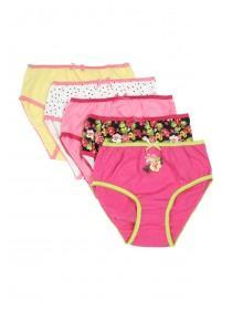 Girls 5pk Pink Tropical Briefs