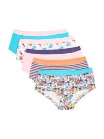 Girls 5pk Cat Design Briefs